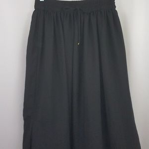 SALE MNG Casual Chiffon Maxi Skirt Black Pockets M